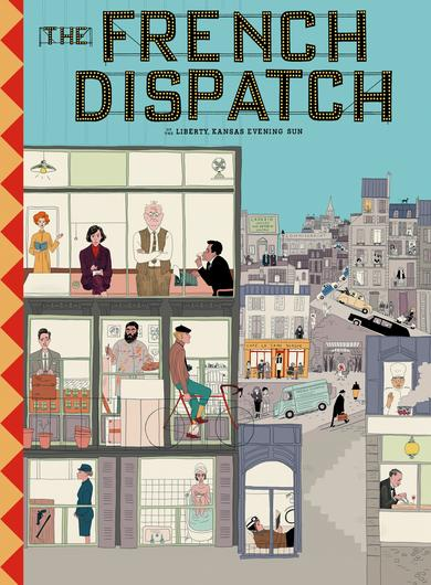 The French Dispatch Poster (Source: themoviedb.org)